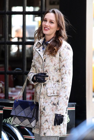 Leighton Meester Evening Coat