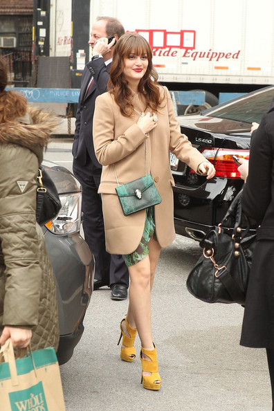 Leighton Meester Wool Coat