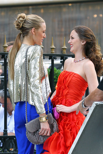 More Pics of Leighton Meester Diamond Collar Necklace (1 of 27) - Diamond Collar Necklace Lookbook - StyleBistro