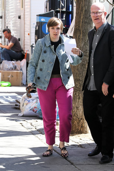 More Pics of Lena Dunham Crewneck Sweater (4 of 13) - Lena Dunham Lookbook - StyleBistro