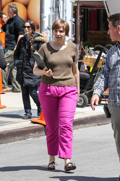More Pics of Lena Dunham Crewneck Sweater (1 of 13) - Lena Dunham Lookbook - StyleBistro