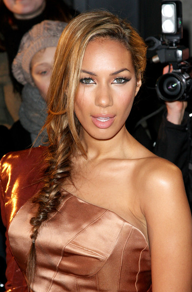 More Pics of Leona Lewis Long Braided Hairstyle (1 of 5) - Long Braided Hairstyle Lookbook - StyleBistro