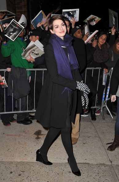 More Pics of Anne Hathaway Tights (2 of 5) - Anne Hathaway Lookbook - StyleBistro