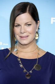 Marcia Gay Harden loosely tied her hair to create an effortless updo at the movie premiere.