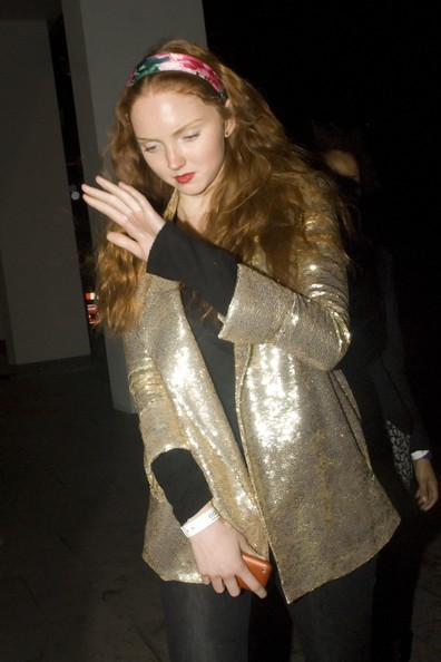 Lily Cole Sequined Jacket