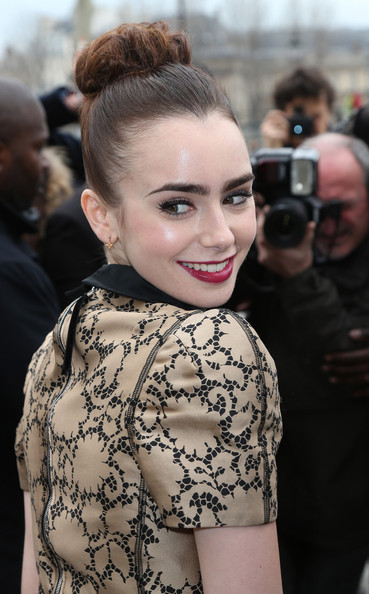 more pics of lily collins hair knot 6 of 8 lily