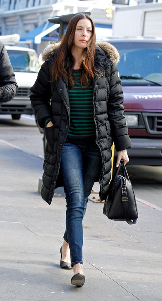 More Pics of Liv Tyler Down Jacket (1 of 5) - Liv Tyler Lookbook ...