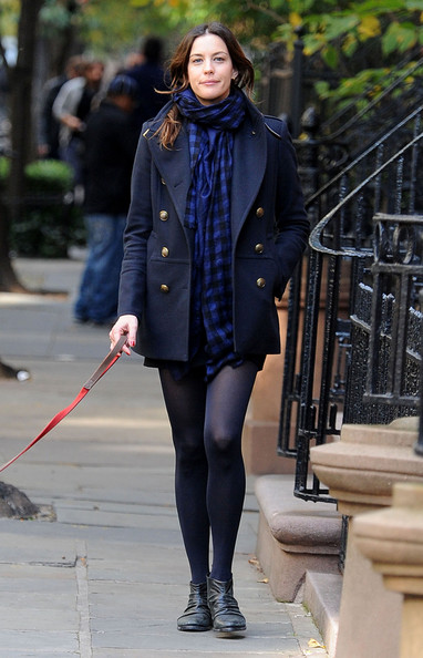 Liv Tyler Patterned Scarf