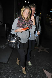 Lauren Bosworth always looks stylish. The reality star spiced up her look with a leather studded City bag.