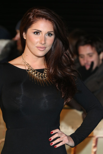 Lucy Pinder Gold Statement Necklace