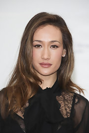 Maggie Q wore her hair in soft, barely-there waves during the 'Nikita' photocall in Monte Carlo.