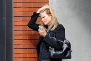Mariel Hemingway Leather Shoulder Bag