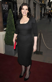 Nigella Lawson was a knockout in this form fitting vintage-inspired black dress.