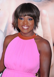 Viola Davis wore her adorable'do slightly tousled and with soft brow-grazing bangs at the NYC premiere of 'Extremely Loud and Incredibly Close.'