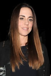 Mel C sported super straight hair while out clubbing in London.