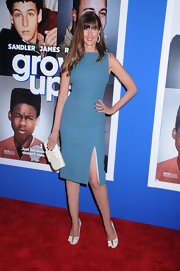 Carol Alt kept her look sleek and sophisticated with a blue sheath dress.