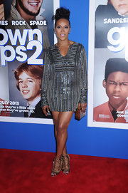 June Ambrose's beaded frock sparkled on the red carpet of 'Grown Ups 2.'