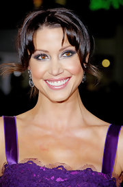 Shannon Elizabeth complemented her brown eyes with shimmery shades of jade and plum shadows for the 'American Reunion' premiere.