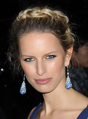 Karolina Kurkova wore her shiny highlighted tresses in a loosely braided halo at the 2012 amfAR Gala.