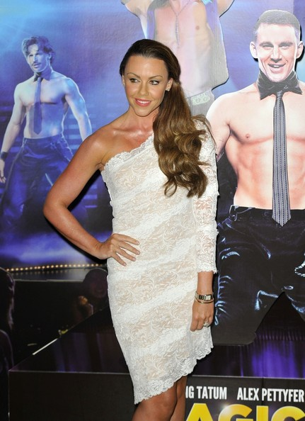 Michelle Heaton One Shoulder Dress