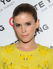 Kate Mara's auburn tresses looked fab when slicked back into a sleek ponytail.