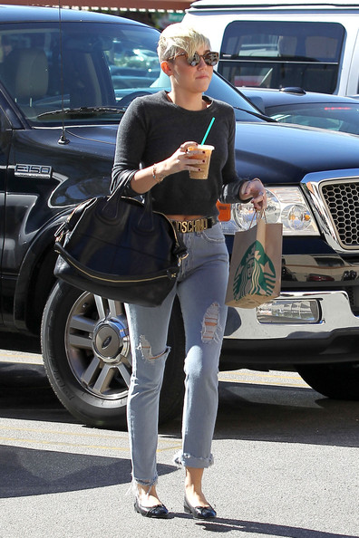 Miley Cyrus Ripped Jeans