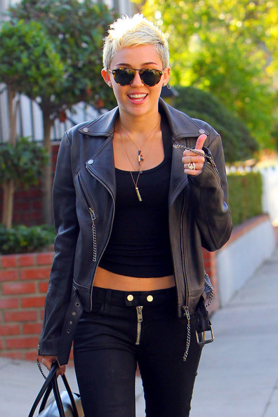 Miley Cyrus Round Sunglasses