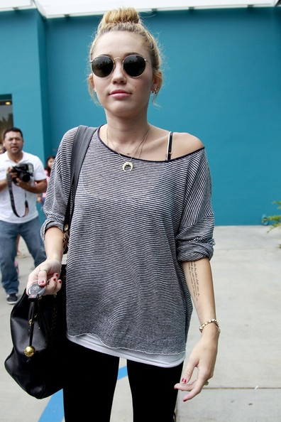 Miley Cyrus Boatneck Sweater