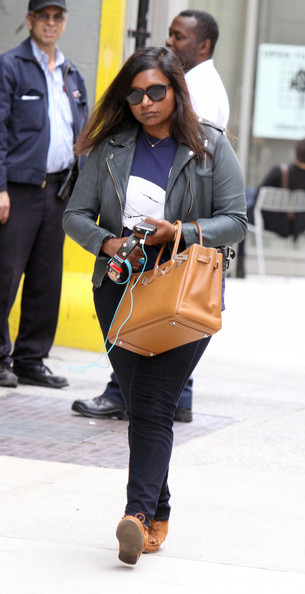 More Pics of Mindy Kaling Leather Tote (1 of 5) - Tote Bags Lookbook - StyleBistro