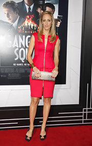 Kim Raver sported a wide gold cuff bracelet at the 'Gangster Squad' premiere in Los Angeles.
