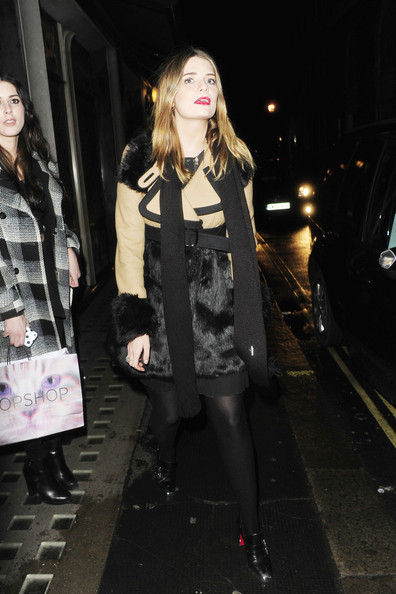 Mischa Barton Outside the Ivy Club in London