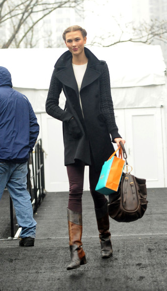 More Pics of Karlie Kloss Wool Coat (5 of 14) - Wool Coat Lookbook - StyleBistro