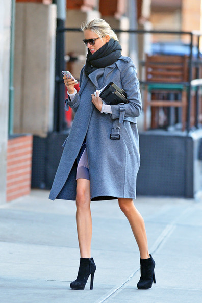 More Pics of Karolina Kurkova Wool Coat (1 of 5) - Karolina Kurkova Lookbook - StyleBistro