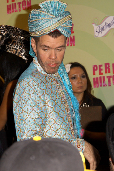 More Pics of Perez Hilton Turban (1 of 1) - Turban Lookbook - StyleBistro