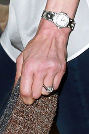 Nancy Shevell accessorized with a luxurious diamond watch at the Stella McCartney Spring 2012 presentation.