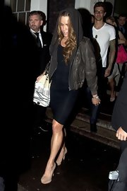 Natalie Coughlin was spotted walking out of the Omega watch party in her platform pumps.