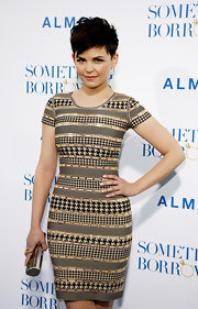 Ginnifer Goodwin dazzled at the premiere of 'Something Borrowed,' thanks in part to her gold Creel Mosaic Minaudiere.