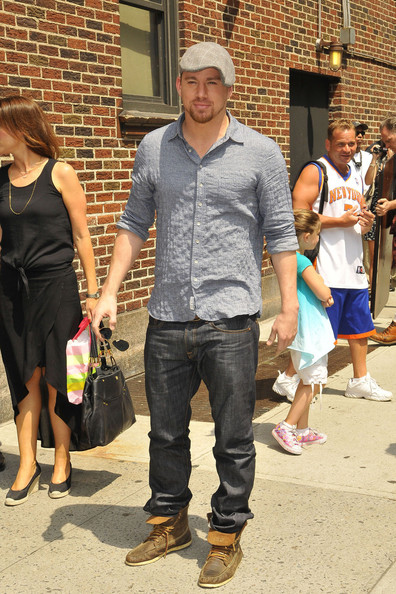 Channing kept his look casual and relaxed with classic jeans.