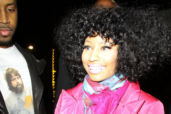 More Pics of Nicki Minaj Medium Curls (1 of 10) - Nicki Minaj Lookbook - StyleBistro