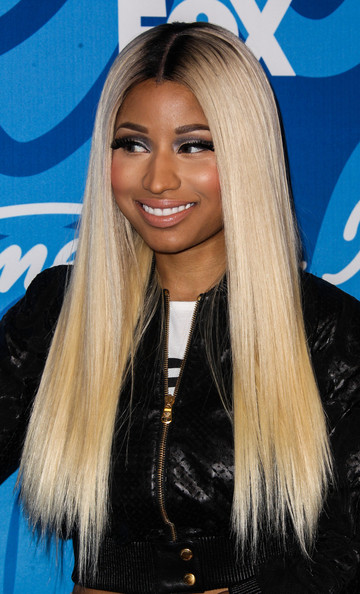 Nicki rocked a super straight 'do at the 'American Idol' results show.