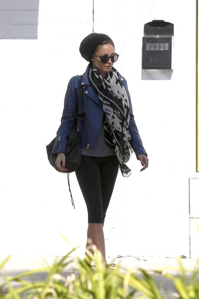 More Pics of Nicole Richie Leather Jacket (5 of 8) - Nicole Richie Lookbook - StyleBistro