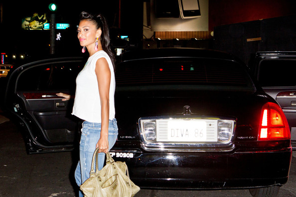Nicole Scherzinger Leather Hobo Bag
