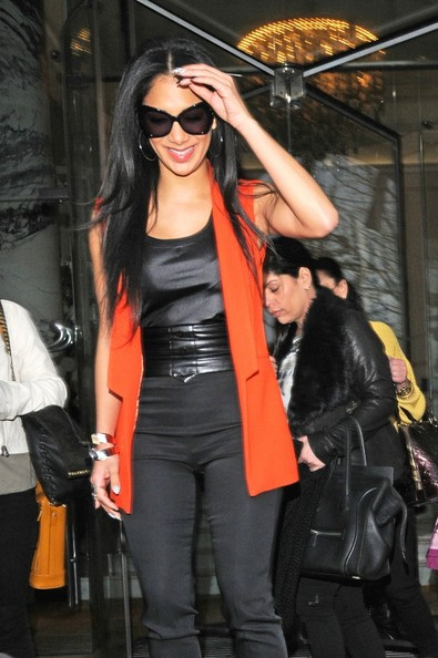 More Pics of Nicole Scherzinger Vest (1 of 6) - Nicole Scherzinger Lookbook - StyleBistro