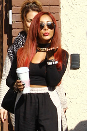 Nicole Polizzi looked cool in her aviators while heading to 'DWTS' rehearsals.