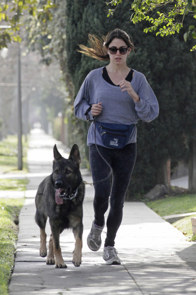 Nikki Reed Goes for a Run