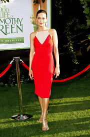 Alex Lombard joined Jennifer Garner by wearing red to the 'Odd Life of Timothy Green' premiere.