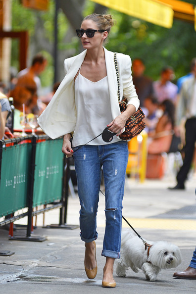 More Pics of Olivia Palermo Ripped Jeans (8 of 9) - Jeans Lookbook - StyleBistro