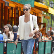 Olivia Palermo's White Blazer and Torn Jeans