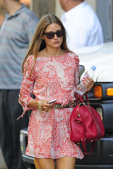 More Pics of Olivia Palermo Print Dress (1 of 5) - Olivia Palermo Lookbook - StyleBistro