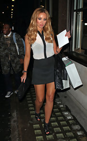 Lauren's edgy shoes by Chloe Green for Topshop looked great with her outfit.